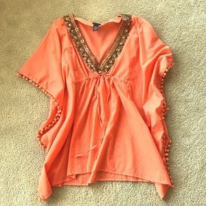 Moda International Coral Cover Up
